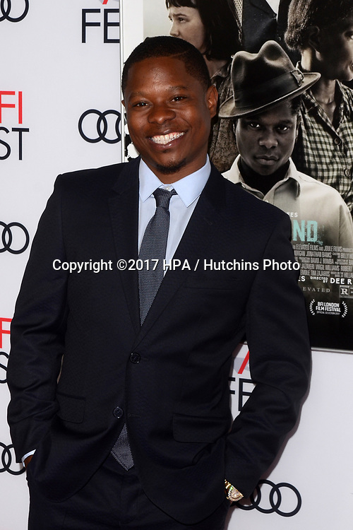 "LOS ANGELES - NOV 9:  Jason Mitchell at the ""Mudbound"" Opening Gala of AFI Fest 2017 at the TCL Chinese Theater IMAX on November 9, 2017 in Los Angeles, CA"