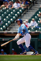 Buffalo Bisons Patrick Kivlehan (14) at bat during an International League game against the Lehigh Valley IronPigs on June 9, 2019 at Sahlen Field in Buffalo, New York.  Lehigh Valley defeated Buffalo 7-6 in 11 innings.  (Mike Janes/Four Seam Images)