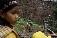 June 20, 2015 - Rattanakiri, Cambodia. Indigenous youth from the Kreung minority of Cambodia are seen in a deforested area in Rattanakiri.  © Hannah Reyes / Ruom