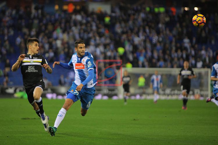 League Santander 2016/2017. Game: 13.<br /> RCD Espanyol vs CD Leganes: 3-0.<br /> Bustinza vs Diego Reyes.