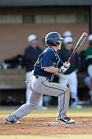 Center fielder Hughston Armstrong (31) of the Citadel bats in a game against the University of South Carolina Upstate Spartans on Tuesday, February, 18, 2014, at Cleveland S. Harley Park in Spartanburg, South Carolina. Upstate won, 6-2. (Tom Priddy/Four Seam Images)
