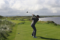 Alan Fahy (Bray) on the 11th tee during Matchplay Semi-Finals of the AIG Irish Amateur Close Championship 2019 in Ballybunion Golf Club, Ballybunion, Co. Kerry on Wednesday 7th August 2019.<br /> <br /> Picture:  Thos Caffrey / www.golffile.ie<br /> <br /> All photos usage must carry mandatory copyright credit (© Golffile | Thos Caffrey)