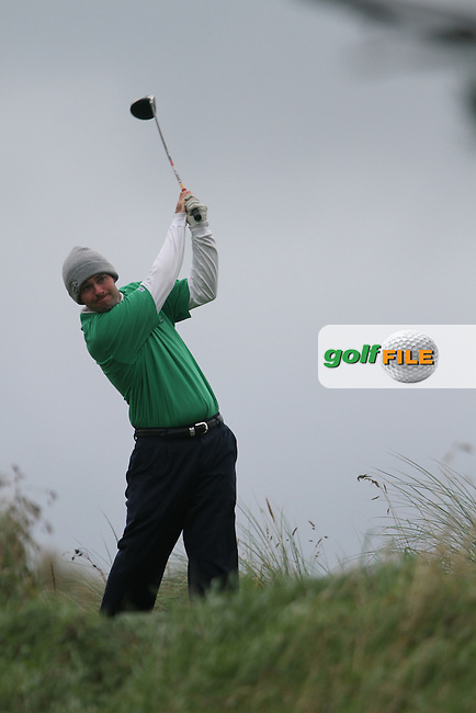 Day one of the Irish PGA championship at Seapoint Golf Club, Martin McTernan from Co.Sligo on the 10th tee...Picture Jenny Matthews/Newsfile.ie