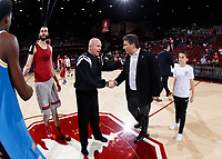 Stanford, CA -- February 16, 2019: Stanford Men's Basketball defeats UCLA 104-80 at Maples Pavilion.