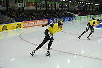 SCHAATSEN: HEERENVEEN: IJsstadion Thialf, 28-12-2014, NK Allround, Sven Kramer, Wouter olde Heuvel, ©foto Martin de Jong