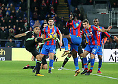9th December 2017, Selhurst Park, London, England; EPL Premier League football, Crystal Palace versus Bournemouth; Callum Wilson of Bournemouth has his shot blocked by Jeffrey Schlupp in the last seconds of stoppage time