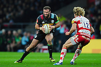Jamie Roberts of Harlequins in possession. Aviva Premiership match, between Harlequins and Gloucester Rugby on December 27, 2016 at Twickenham Stadium in London, England. Photo by: Patrick Khachfe / JMP