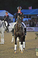 16.05.2014.  Windsor Horse Show London, winner Charotte Dujardin (GBR) riding Utopia during the CD13* FEI Grand Prix Freestyle to music