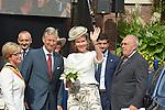 ©www.agencepeps.be/ F.Andrieu- A.Rolland / Imagebuzz.be  - Belgique -Bruxelles - 130910 - Roi Philippe et la Reine Mathilde joyeuse entrée en Brabant Wallon à Wavre
