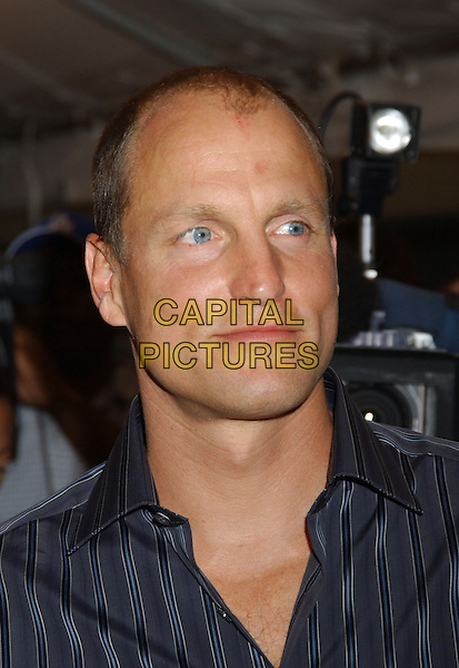 "WOODY HARRELSON.""North Country"" Premiere at The Roy Thomson Hall,.Toronto Film Festival,.Toronto, 12th September 2005.portrait headshot navy stripe shirt.Ref: FARR.www.capitalpictures.com.sales@capitalpictures.com.© Capital Pictures."