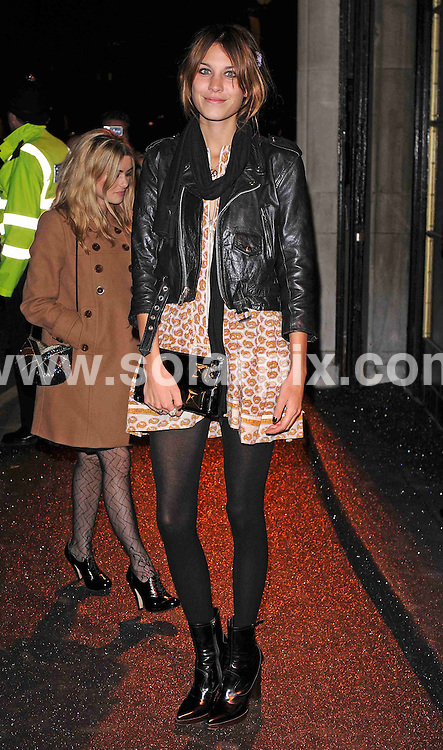 **ALL ROUND PICTURES FROM SOLARPIX.COM**.**WORLDWIDE SYNDICATION RIGHTS**.arrivals for the British Fashion Awards, held at the Royal Horticultural Hall, London, UK. 25th November 2008..This pic: Alexa Chung..JOB REF: 8005 SSD     DATE: 25_11_2008.**MUST CREDIT SOLARPIX.COM OR DOUBLE FEE WILL BE CHARGED* *UNDER NO CIRCUMSTANCES IS THIS IMAGE TO BE REPRODUCED FOR ANY ONLINE EDITION WITHOUT PRIOR PERMISSION*