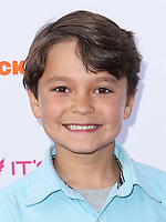 "BURBANK, CA, USA - APRIL 26: Pierce Gagnon at the Lollipop Theater Network's Night Under The Stars Screening Of Twentieth Century Fox's ""Rio 2"" Hosted by Anne Hathaway held at Nickelodeon Animation Studios on April 26, 2014 in Burbank, California, United States. (Photo by Xavier Collin/Celebrity Monitor)"