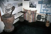 Costa Rican coffee production display in the Museo Nacional de Costa Rica, San Jose, Costa Rica