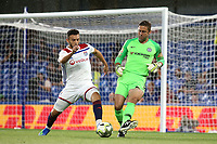Chelsea goalkeeper, Rob Green, passes the ball upfield during Chelsea vs Lyon, International Champions Cup Football at Stamford Bridge on 7th August 2018