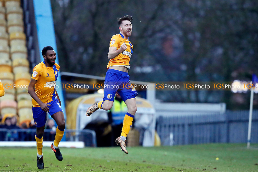 Ben Whiteman celebrates during Mansfield Town vs Leyton Orient, Sky Bet EFL League 2 Football at the One Call Stadium on 28th January 2017