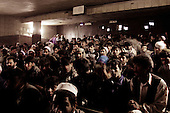 Kabul, Afghanistan<br /> November 22, 2001<br /> <br /> The viewing room of the first movie theater to open in Kabul after the Northern Alliance defeats the Taliban who did not allow cinemas to be used during their rule.