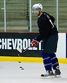 Nick Petrecki (US White - 9) - US players take part in practice on Friday morning, August 8, 2008, in the NHL Rink during the 2008 US National Junior Evaluation Camp and Summer Hockey Challenge in Lake Placid, New York.