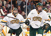 Kevan Miller (Vermont - 15) - The Boston College Eagles defeated the University of Vermont Catamounts 4-0 in the Hockey East championship game on Saturday, March 22, 2008, at TD BankNorth Garden in Boston, Massachusetts.