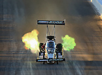 Feb 21, 2014; Chandler, AZ, USA; NHRA top fuel dragster driver Brittany Force during qualifying for the Carquest Auto Parts Nationals at Wild Horse Pass Motorsports Park. Mandatory Credit: Mark J. Rebilas-USA TODAY Sports