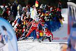 25/01/2015, Anterselva - Antholz - IBU Biathlon World Cup 2015 - Antholz -   Anterselva - Italy<br /> Nicole Gontier competes at the relay in Anterselva - Antholz, Italy on 25/01/2015. Germany's team with Franziska Hidelbrand, Franziska Preuss, Luise Kummer and Laura Dahlmeier wins.