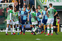 Adam El-Abd of Wycombe Wanderers (6) acts as peacemaker during Yeovil Town vs Wycombe Wanderers, Sky Bet EFL League 2 Football at Huish Park on 14th April 2018