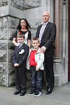 Luke Beliavskas and family at the St Mary's Congress Avenue Communion in St.Mary's Church...(Photo credit should read Jenny Matthews www.newsfile.ie)....This Picture has been sent you under the conditions enclosed by:.Newsfile Ltd..The Studio,.Millmount Abbey,.Drogheda,.Co Meath..Ireland..Tel: +353(0)41-9871240.Fax: +353(0)41-9871260.GSM: +353(0)86-2500958.email: pictures@newsfile.ie.www.newsfile.ie.