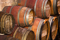 Oak barrel aging and fermentation cellar. Chateau Kirwan, Margaux, Medoc, Bordeaux, France