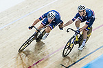 Morgan Kneisky and Benjamin Thomas of France compete in the Men's Madison 50 km Final during the 2017 UCI Track Cycling World Championships on 16 April 2017, in Hong Kong Velodrome, Hong Kong, China. Photo by Chris Wong / Power Sport Images