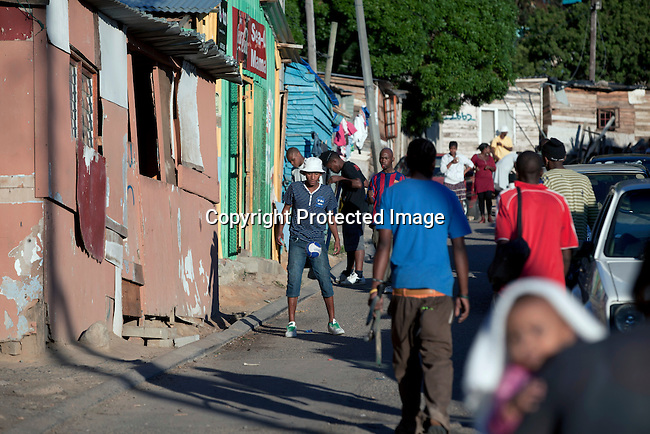 CAPE TOWN, SOUTH AFRICA - APRIL 19: The neighborhood in Imizamo Yethu, a poor township on April 19, 2011 in Hout Bay outside Cape Town, South Africa. (Photo by Per-Anders Pettersson)