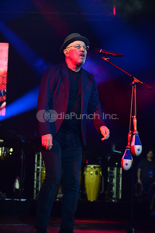 "CORAL GABLES, FL - AUGUST 27: Ruben Blades performs during ""Caminando, Adios Y Gracias concert"" at Bank United Center on August 27, 2016 in Miami, Florida.  Credit: MPI10 / MediaPunch"