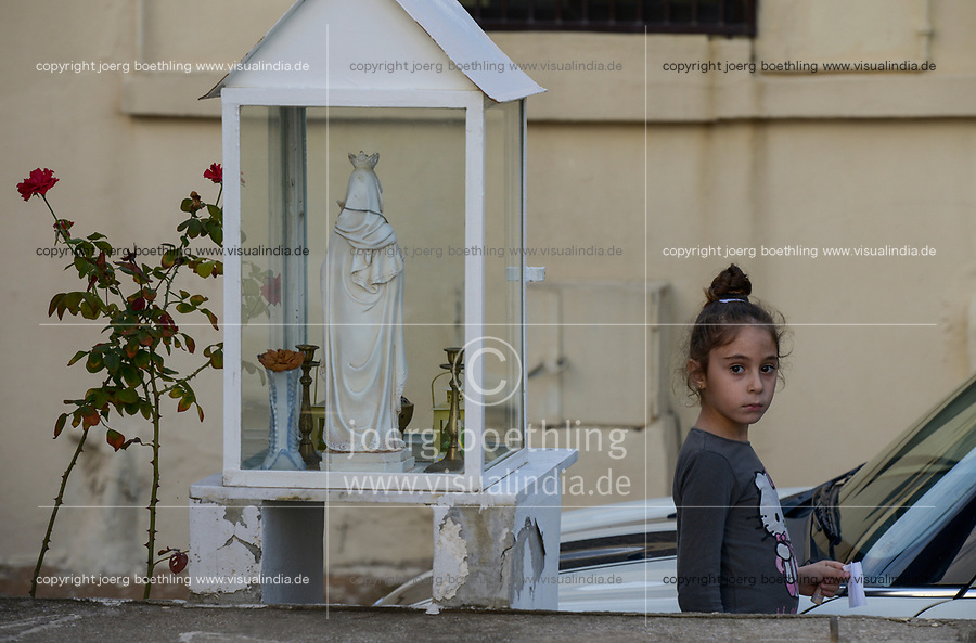 LEBANON, Beirut, palestinian refugee camp Dbayeh where christians are living / LIBANON, Beirut, palaestinensisches Fluechtlingslager Dbayeh, hier leben vorwiegend Christen, Marien Schrein