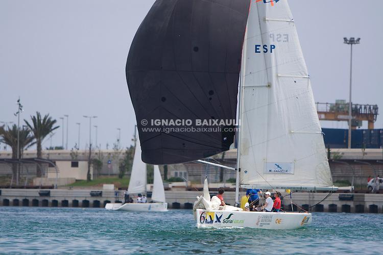 Semifinales - CAMPEONATO DE ESPAÑA DE MATCH RACE FEMENINO, 7-10 Mayo 2009. Marina Real Juan Carlos I, Valencia