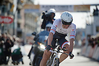 Stijn Devolder (BEL/Trek Factory Racing) finishing his TT<br /> <br /> 3 Days of De Panne 2015<br /> stage 3b: De Panne-De Panne TT