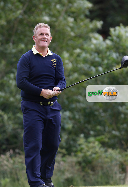 Ger Clifford (Nenagh) on the 12th tee during the Semi-Finals of the Munster Bruen &amp; Shield Finals at East Clare Golf Club on Sunday 19th July 2015.<br /> Picture:  Golffile | Thos Caffrey All photo usage must carry mandatory copyright credit (&copy; Golffile | Thos Caffrey)
