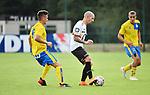 2018-07-11 / Voetbal / Seizoen 2018-2019 / Union Saint-Gilloise - KV Mechelen / Marcel Mehlem met Frank Berrier (r. KVM)<br /> <br /> ,Foto: Mpics