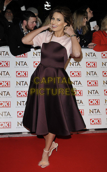 LONDON, ENGLAND - JANUARY 21: Ferne McCann attends the National TV Awards 2015, The O2 Arena, Millennium Way, Peninsula Square, Greenwich, on Wednesday January 21, 2015 in London, England, UK. <br /> CAP/CAN<br /> &copy;Can Nguyen/Capital Pictures
