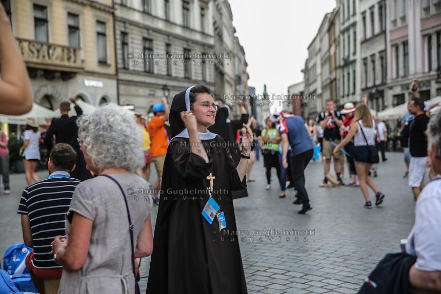 World Youth day Krakow 2016<br /> una suora