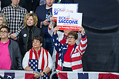 Supporters hold up Rick Saccone, the Republican Congressional candidate for Pennsylvania's 18th district, campaign signs during a Make America Great Rally in Moon Township, Pennsylvania on March 10th, 2018. Credit: Alex Edelman / CNP