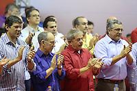 SAO PAULO, SP, 14.09.2013 - PT / ENCONTRO REGIAO METROPOLITANA - Fernando Haddad, Rui Falcao (e)<br /> O ex-presidente Luiz In&aacute;cio Lula da Silva &copy; Alexandre Padilha (d) durante o Grande Encontro da Regi&atilde;o Metropolitana do PT estadual de S&atilde;o Paulo, na Quadra dos Banc&aacute;rios, na capital paulista, neste sabado, 14. (Foto: Vanessa Carvalho / Brazil Photo Press).