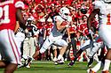 October 16, 2010: Texas Longhorns quarterback Garrett Gilbert #7 making a run for it against the Nebraska Cornhuskers at Memorial Stadium in Lincoln, Nebraska. Texas defeated Nebraska 20 to 13.