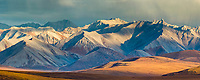 Panorama of the Philip Smith Mountains of the Brooks Range, Arctic, Alaska.
