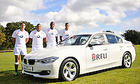 25.9.12. Mortimer, England, Academy players  Brett Herron, Kyle Sinckler, Maro Itoje, Anthony Watson  at the Launch of BMW Group UK's new partnership with the RFU including investment in the RFU National Academy Programme and front of shirt sponsorship for the England Under-20, Under-18 and Under-16 squads at  BMW Group Academy, Mortimer, England, September 25.