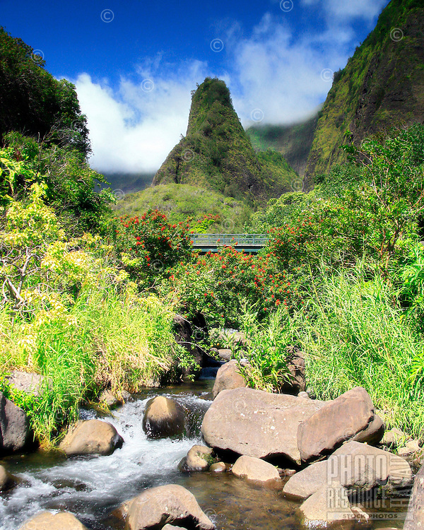 View of Iao needle, Iao Valley State Park, Maui, Hawaii