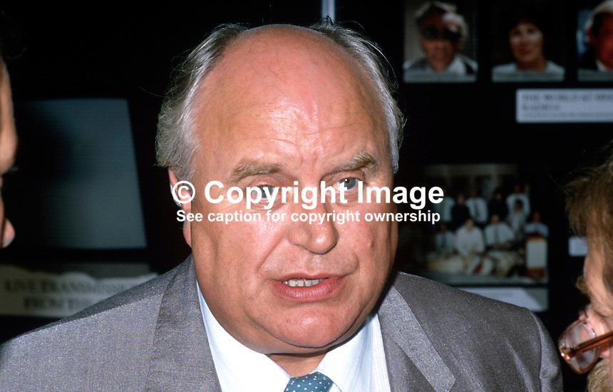 Norman Willis, general secretary, TUC, Trades Union Congress, UK, 19870914NW5.<br /> <br /> Copyright Image from Victor Patterson, 54 Dorchester Park, Belfast, UK, BT9 6RJ<br /> <br /> t1: +44 28 9066 1296<br /> t2: +44 28 9002 2446<br /> m: +44 7802 353836<br /> <br /> e1: victorpatterson@me.com<br /> e2: victorpatterson@gmail.com<br /> <br /> www.victorpatterson.com<br /> <br /> IMPORTANT: Please see my Terms and Conditions of Use at www.victorpatterson.com