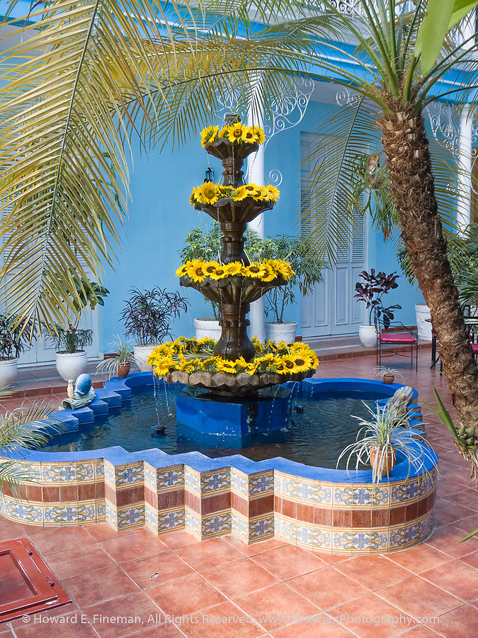 Beautiful courtyard in Hotel Union in Cienfuegos