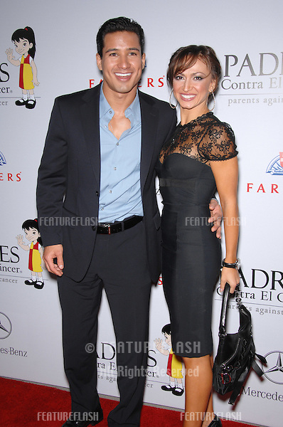 Mario Lopez & Karina Smirnoff at a fund-raising gala to benefit Padres Contra El Cåncer (parents against cancer) at The Lot, Hollywood..October 19, 2007  Los Angeles, CA.Picture: Paul Smith / Featureflash