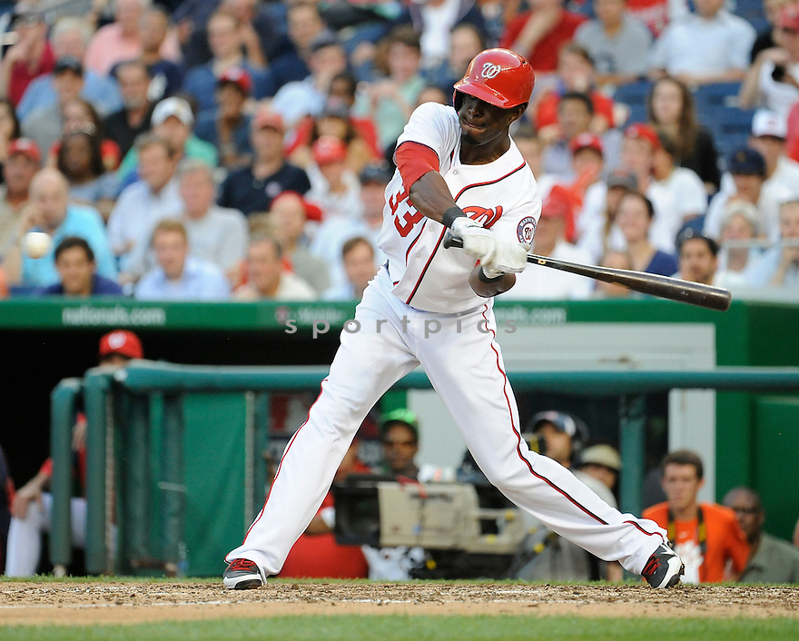 Washington Nationals Roger Bernadina (33) during a game against the Arizona Diamondbacks on June 28, 2013 at Nationals Park in Washington DC. The Diamondbacks beat the Nationals 3-2 in 11 innings.