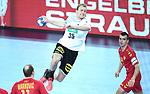 13.01.2018., Croatia, Arena Zagreb, Zagreb - European Handball Championship, Group C, Round 1, Germany - Montenegro. KUHN Julius<br /> <br /> Foto &copy; nordphoto / Sanjin Strukic/PIXSELL