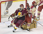 Adam Miller, Peter Mannino, Ryan Dingle - The Ferris State Bulldogs defeated the University of Denver Pioneers 3-2 in the Denver Cup consolation game on Saturday, December 31, 2005, at Magness Arena in Denver, Colorado.