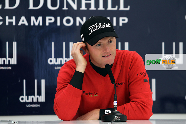 Michael Hoey (NIR) in the interview room on Wednesday's Practise Day at the Alfred Dunhill Links Championship, Old Course St. Andrews, Carnoustie and Kingsbarns, Scotland...(Photo Jenny Matthews/www.golffile.ie)